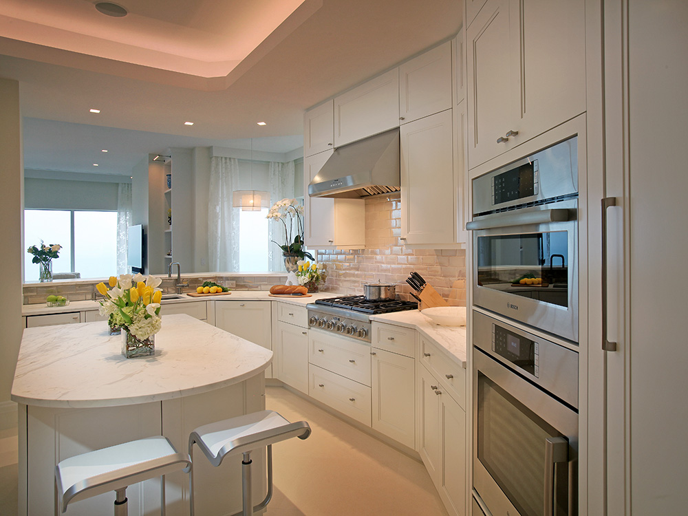 Lido Key Penthouse Kitchen Eurotech Cabinetry Sarasota Custom Cabinetry And Furniture